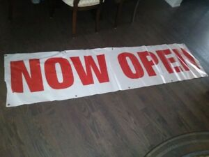 2 store front signs available
