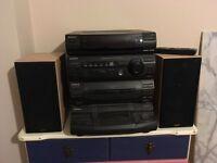 Stereo plus speakers