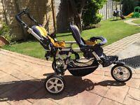 twin Jane Powertwin Double Seat Stroller, Pushchair £ 175