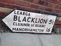 Original Irish Waymarker Roadsign