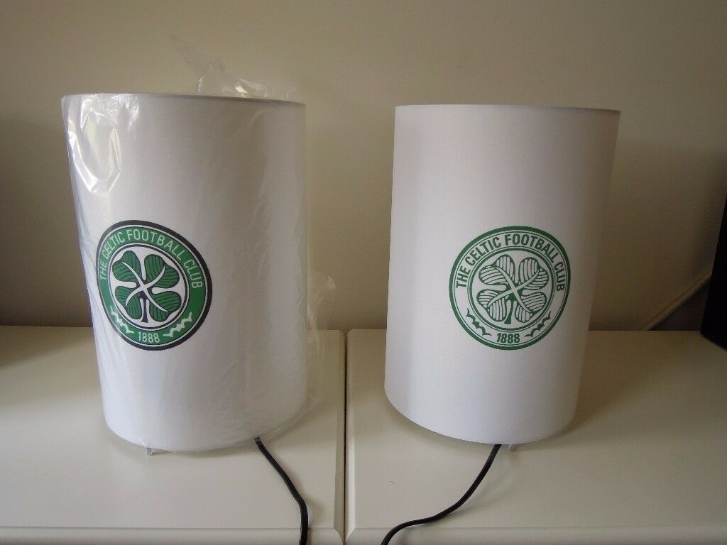 Matching Pair of Lamps ~ Unique Design ~ CELTIC FC