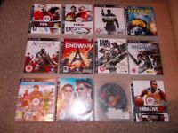 PLAYSTATION 3 GAMES JOBLOT £10 THE LOT FOR 19 GAMES