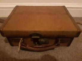 vintage canvas leather cartridge case