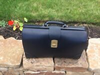 John Lewis black leather briefcase