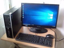 """HP Compaq 6000 Pro pc, Core2Duo E8500, 4Gb, 500GB HDD, 22"""" monitor,. (NORTH DORSET)"""