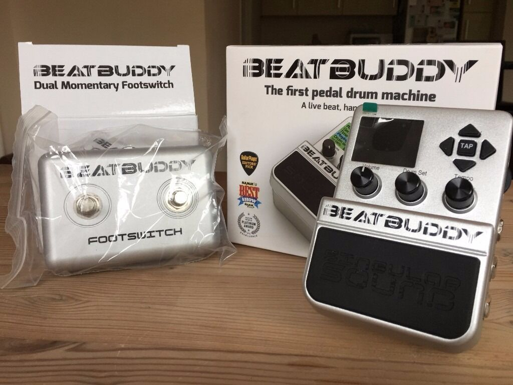beatbuddy pedal drum machine and footswitch brand new in dorking surrey gumtree. Black Bedroom Furniture Sets. Home Design Ideas