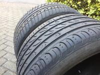 2 x 285 45 R19 Tyres (BMW E53 X5 Rear) 4-5mm Tread