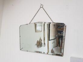 Art deco vintage mirror