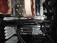 ASUS Nvidia 1080ti with EVGA Hybrid SC Liquid cooler, graphics card.