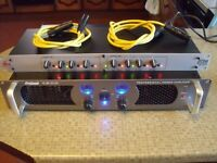 dbx 223xs crossover pro 1600 watt power amplifier amp speakers xover driver bass stereo hi fi