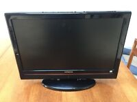 "Hitachi 19"" TV with DVD Player"