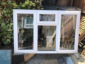 White Double Glazed PVC window.