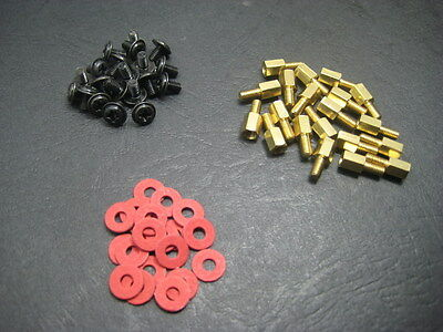 20pcs Computer Case Motherboard Hex Brass Standoff Spacer M3 Screw / Washer Kit