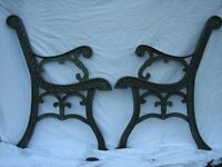 CAST IRON BENCH ENDS..offers.....