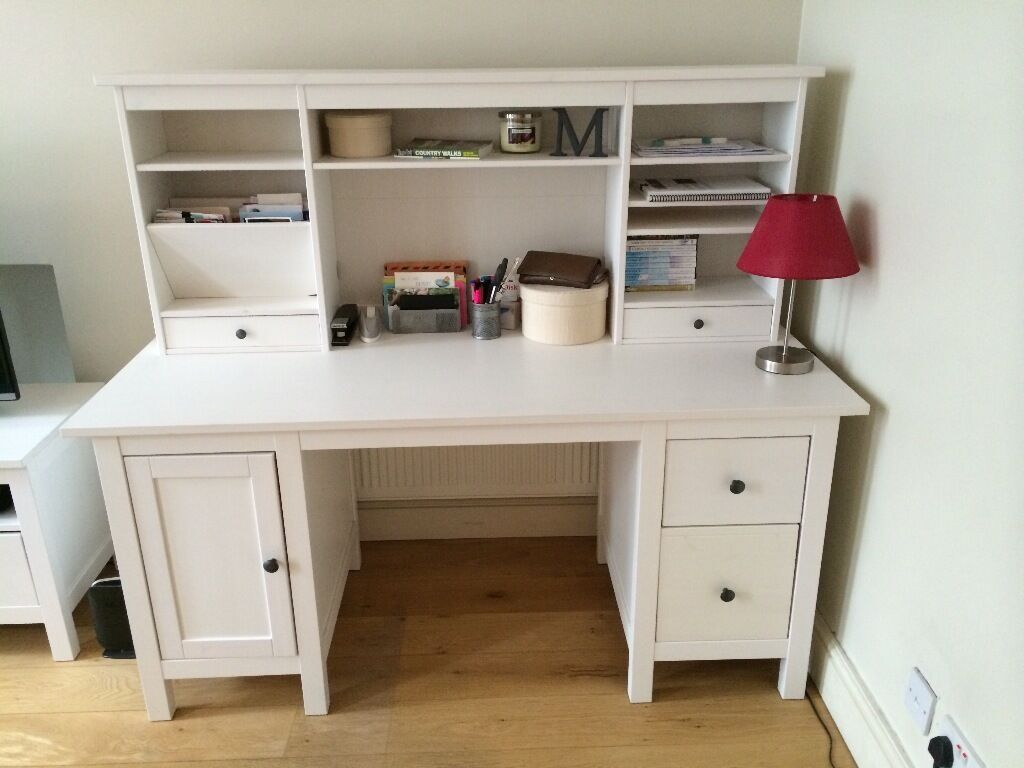 ikea hemnes desk with ikea hemnes add on unit in hammersmith london gumtree. Black Bedroom Furniture Sets. Home Design Ideas