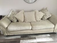 Four seater settee and cuddle sofa