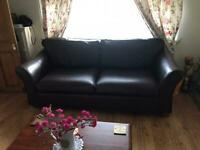 Brown Marks and Spencer (M&S) Abbey Leather 3/4 Seater Sofa