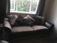 2 x 4 seater sofa