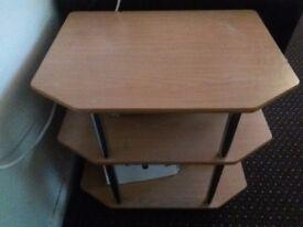 Cheap bargain 3 tier oak wood table