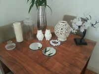 Home decor bundle: glass jars / candles / candle holders / mirrors / candle plates etc