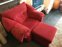Big Comfy Red Chair