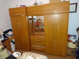 wardrobe and drawers unit