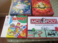BUNDLE OF 4 BOARDGAMES,MONOPOLY.TWISTER,ARTICULATE& SPOT THE INTRO ,USED.£12
