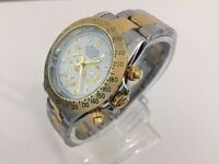 Rolex Oyster Daytona automatic watch with two tone strap