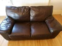Leather 2 two seater sofa