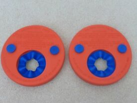 Set of two (red) Delphin swim discs/arm bands