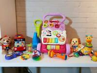 Bundle of toys vtech Fisher price etc