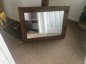 Lovely wooden framed mirror