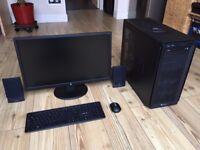 BRAND NEW GAMING PC, AMD Eight-Core FX-9590 CPU, 16GB RAM, PowerColor RX570 4GB GPU, SSD+HDD