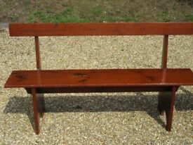 PINE KITCHEN BENCH. 1 of 2. Delivery possible. Also : CHURCH PEWS, SETTLE, MONKS BENCH & CHAIRS.