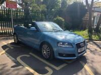 AUDI A3 CABRIOLET 1.8 TFSI 2009 SPORT 2D 158 BHP WITH FULL SERVICE HISTROY AND ,MOT LOW MILES 72K