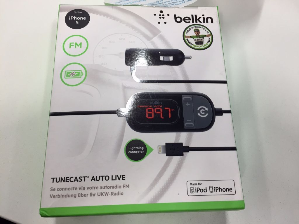 Belkin TuneCast Auto Live with Lightning Connector - iPhone / iPod ...