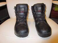 KARRIMOR SKIDO JUNIOR BLACK WALKING HIKING BOOTS TRAINERS SIZE 5 UK 38 EU