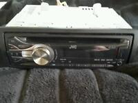 JVC Car Stereo. Ipod and phone accessible. AUX lead and USB also has access.