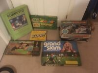 Vintage board games and scalextric