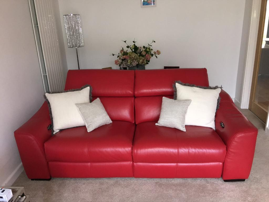 Furniture Village Elixir Power Reclining Sofa In Excellent  ~ Rooms To Go Reclining Sofa