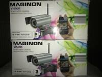 (NEW & UNUSED) 2 CCTV CAMERAS-MOTION DETECTION-NIGHT VISION-WIRELESS INTERNET OR CABLE