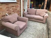 Sofa bed and matching armchair. Can deliver.