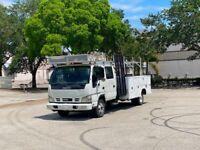 2006 Isuzu NPR Crew Cab 5.2 DIESEL Service Utility Toolbox Truck Turbo Diesel