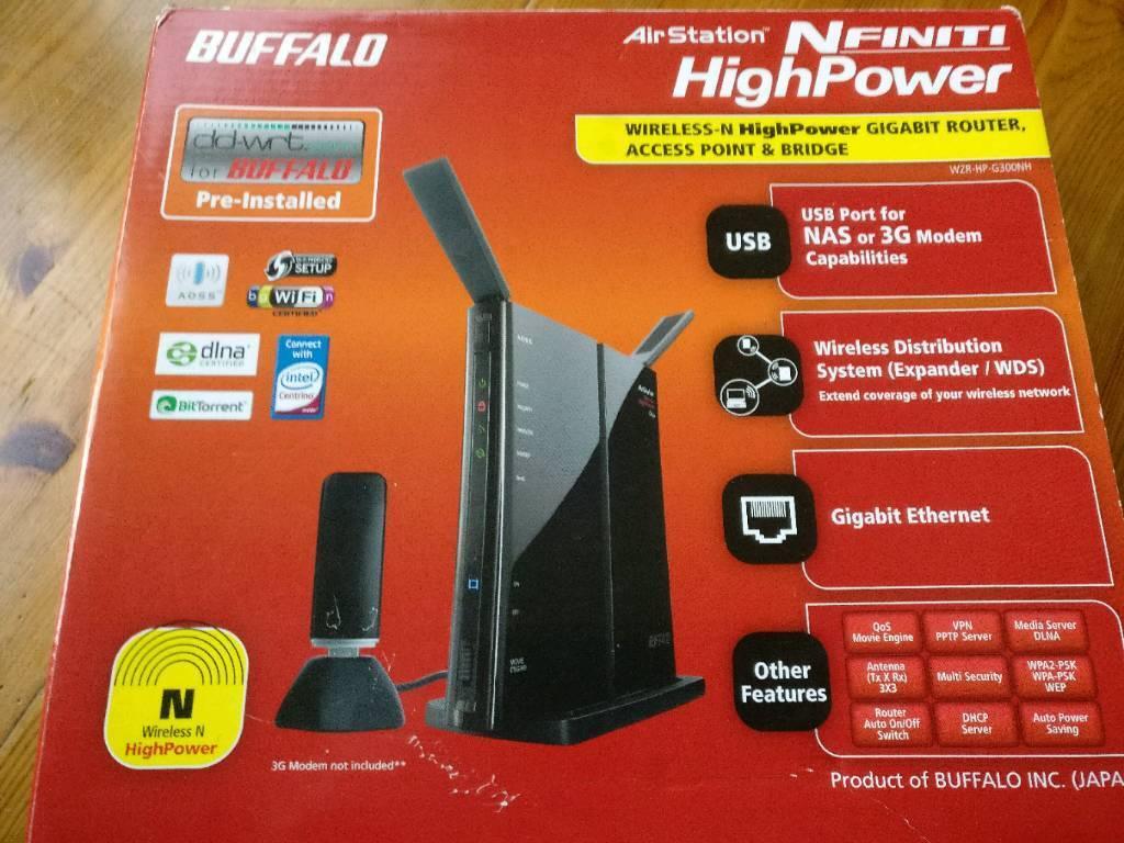 Buffalo AirStation Nfiniti 300 Mbps Wireless N Router (WZR-HP-G300NH)