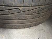 2x tyres for sale part Worn still very good condition