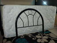 single bed black metal frame + mattress & extras + delivery(hull & outskirts)
