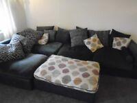 Big sofa comes apart for easy transportation