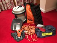 Caravanning accessories: Wheel lock, chocks, cable, hydrobin, inflatable bin & rearview mirrors