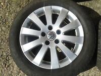 "1 X GENUINE VW B6 PASSAT 16"" MILWAUKEE ALLOY & 205/55/16 GOODYEAR TYRE 5X112PCD"