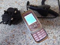 Nokia 6111 Slide Pink Mobile Phone, Used Condition, Vintage Retro